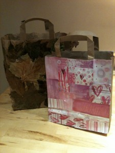Decorated mosaic gift bags