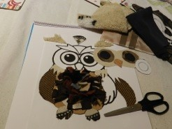 Making the owl card