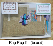 Rag rug kit boxed
